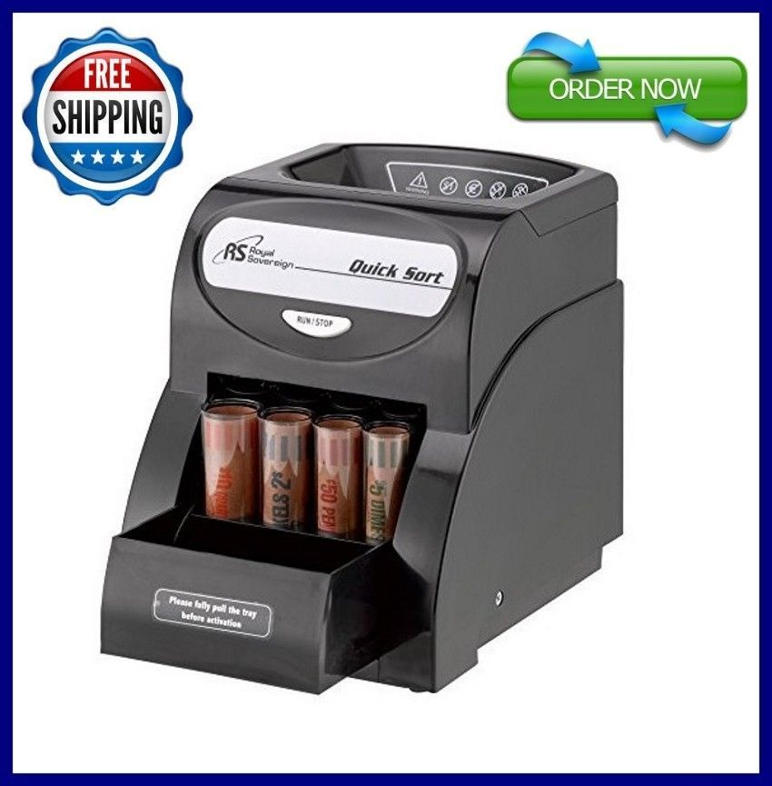 Quick Electric Coin Sorter Money Counter Machine Change Count Wrer Business Royalsovereign