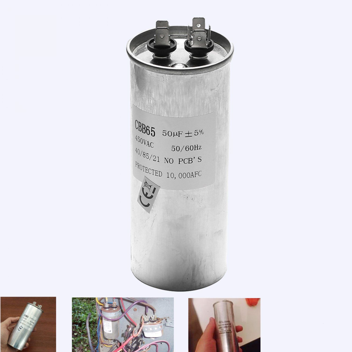 CBB65 450VAC 50uF Motor Capacitor Air Conditioner