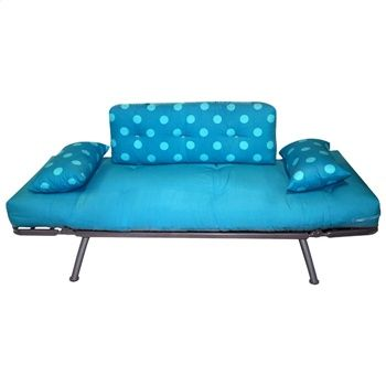 Mali Flex Futon Combo Aqua Polka Dot Print Elite Products