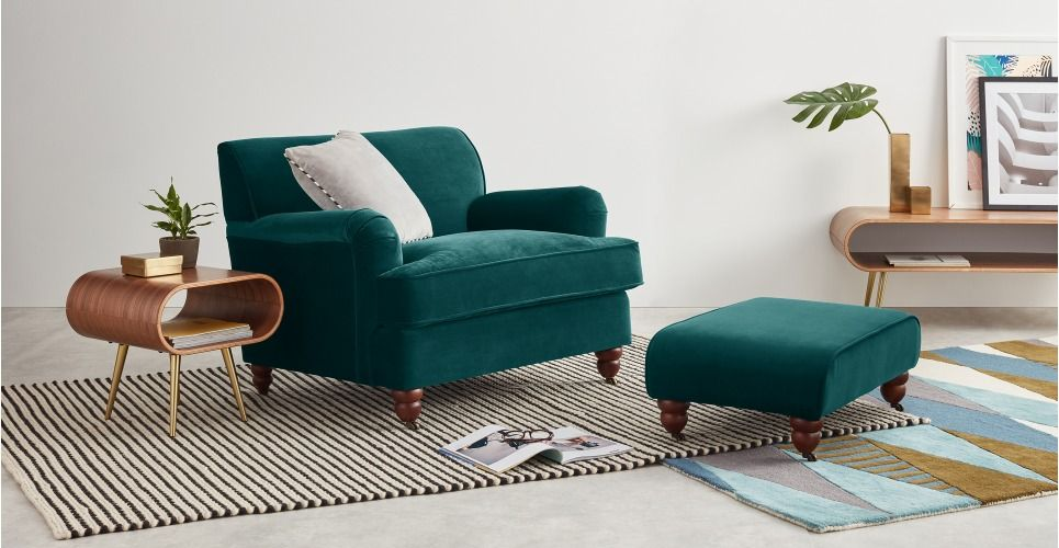 Charmant Orson Armchair, Seafoam Blue Velvet From Made.com. NEW Upholstered With A  Touchably Soft Fabric. Inspired By Traditional English Design, With Simpli.