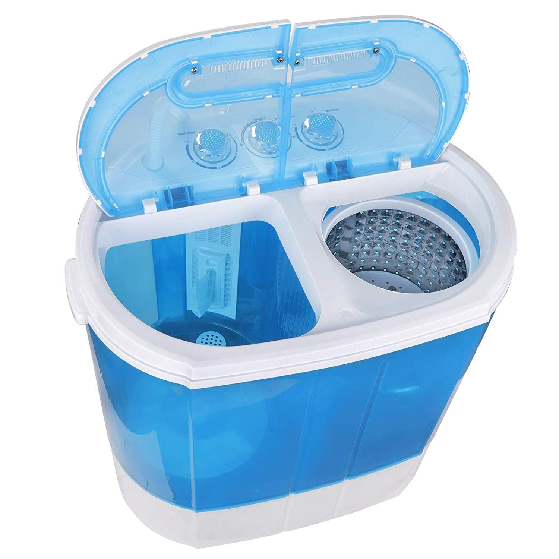 Super Deal Portable Compact Washing Machine Mini Twin Tub Washing Machine W Washer Spinn Mini Washing Machine Compact Washing Machine Portable Washing Machine