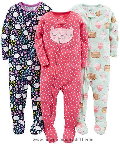 c4df4da82 Baby Girl Clothes Simple Joys by Carter s Girls  Toddler 3-Pack Snug ...