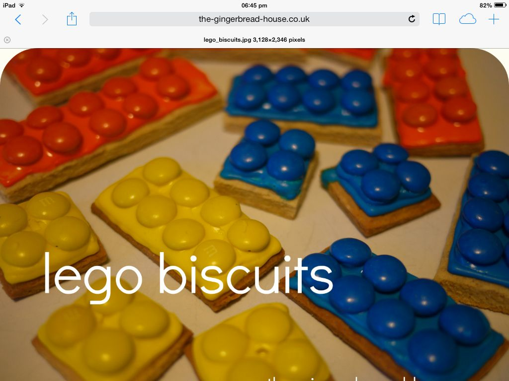 Lego biscuits