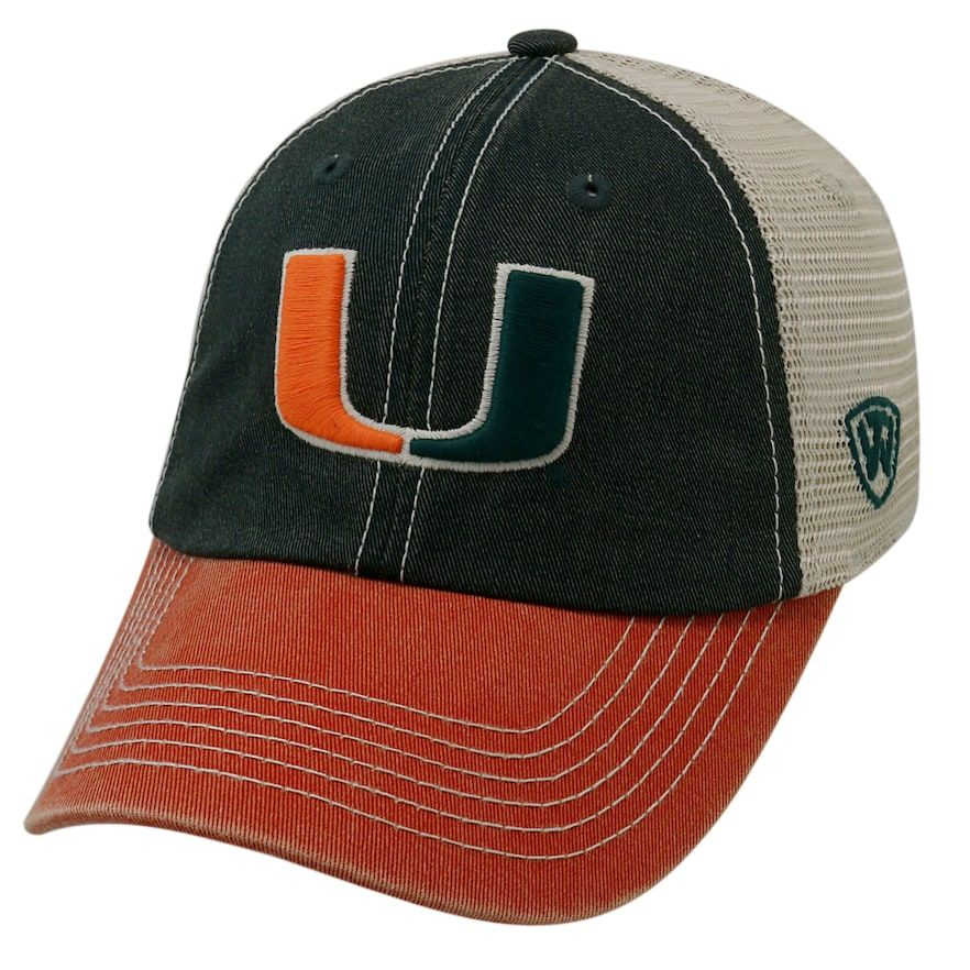 new style e78a1 0f6c1 Adult Top of the World Miami Hurricanes Offroad Cap, Dark Green