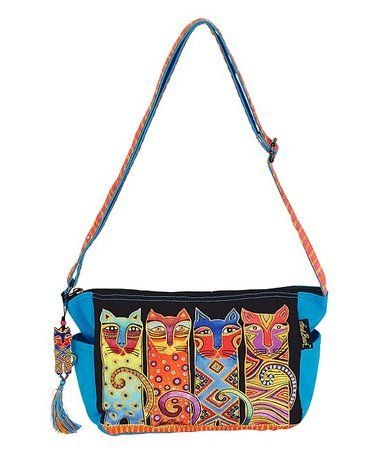 71f1c8133e Look at this  zulilyfind! Orange Feline Clan Crossbody Bag ...