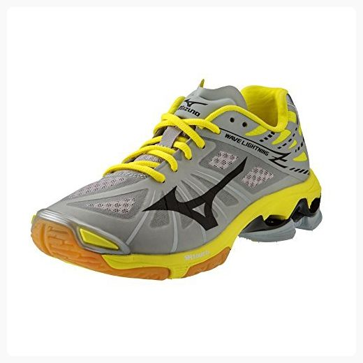 03a3d66cc29c8 Mizuno Wave Lightning Z Women's Volleyball Shoes - Grey / Yellow ...