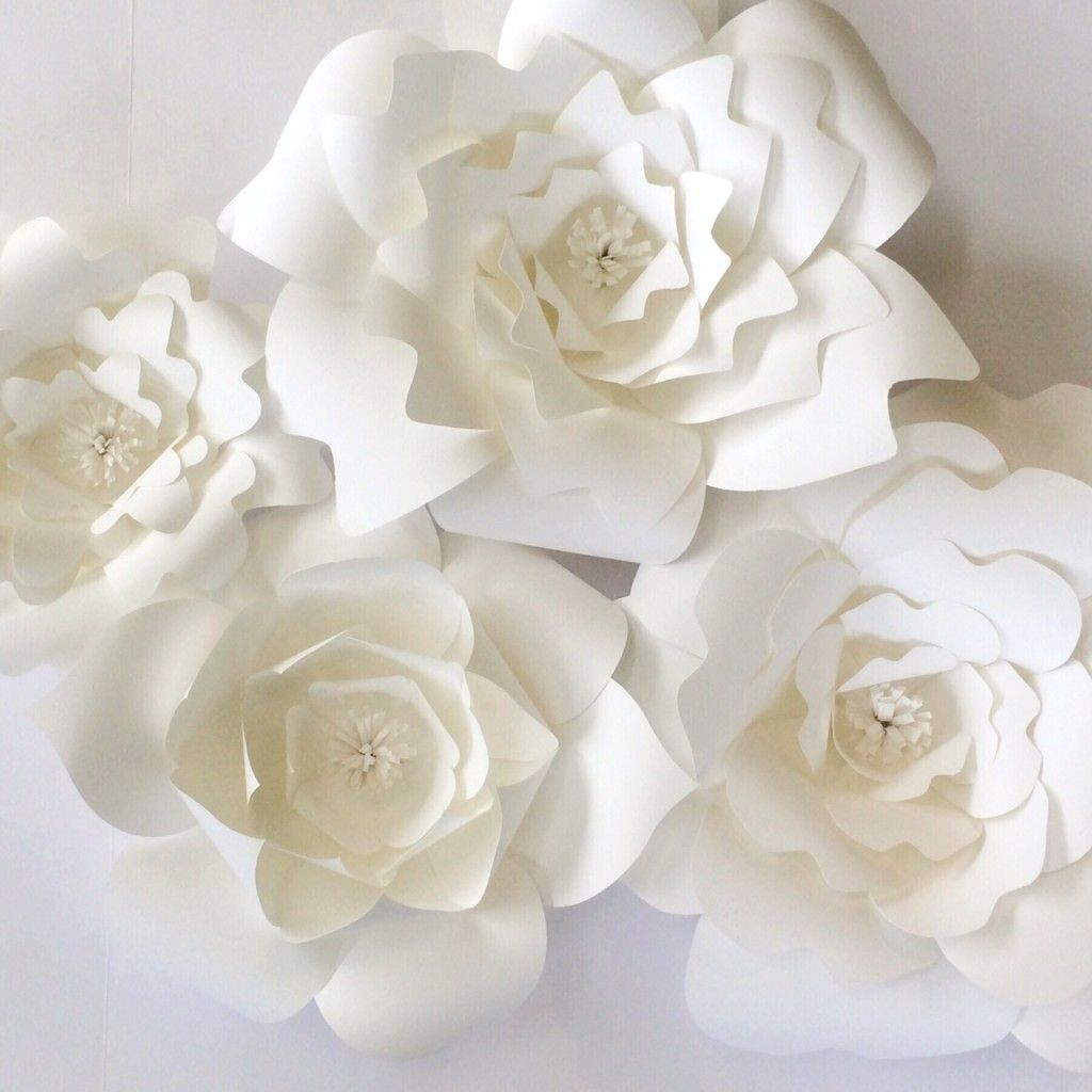 Wedding Paper Flower Templates