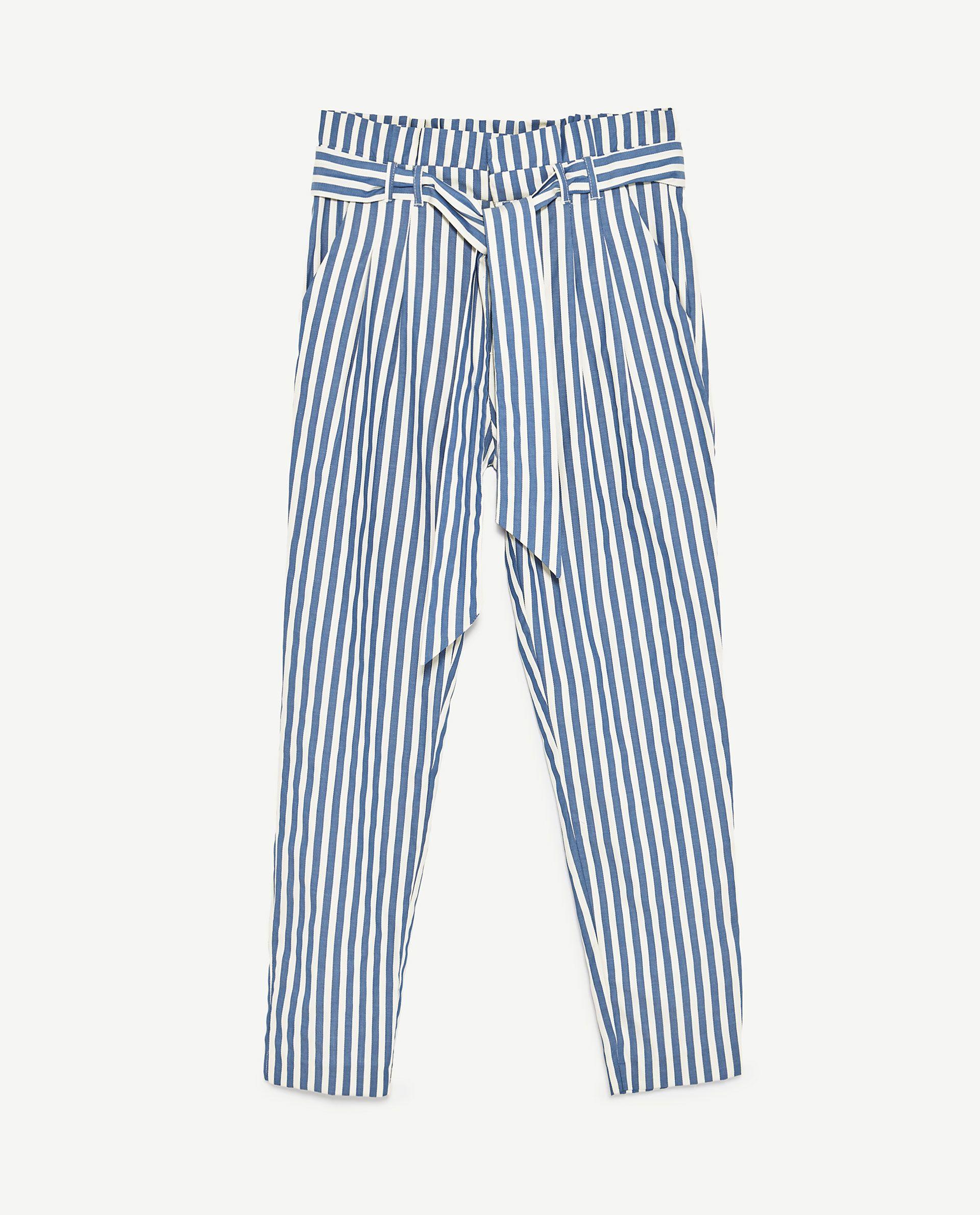 image 8 de pantalon rayures de zara w i s h l i s t. Black Bedroom Furniture Sets. Home Design Ideas