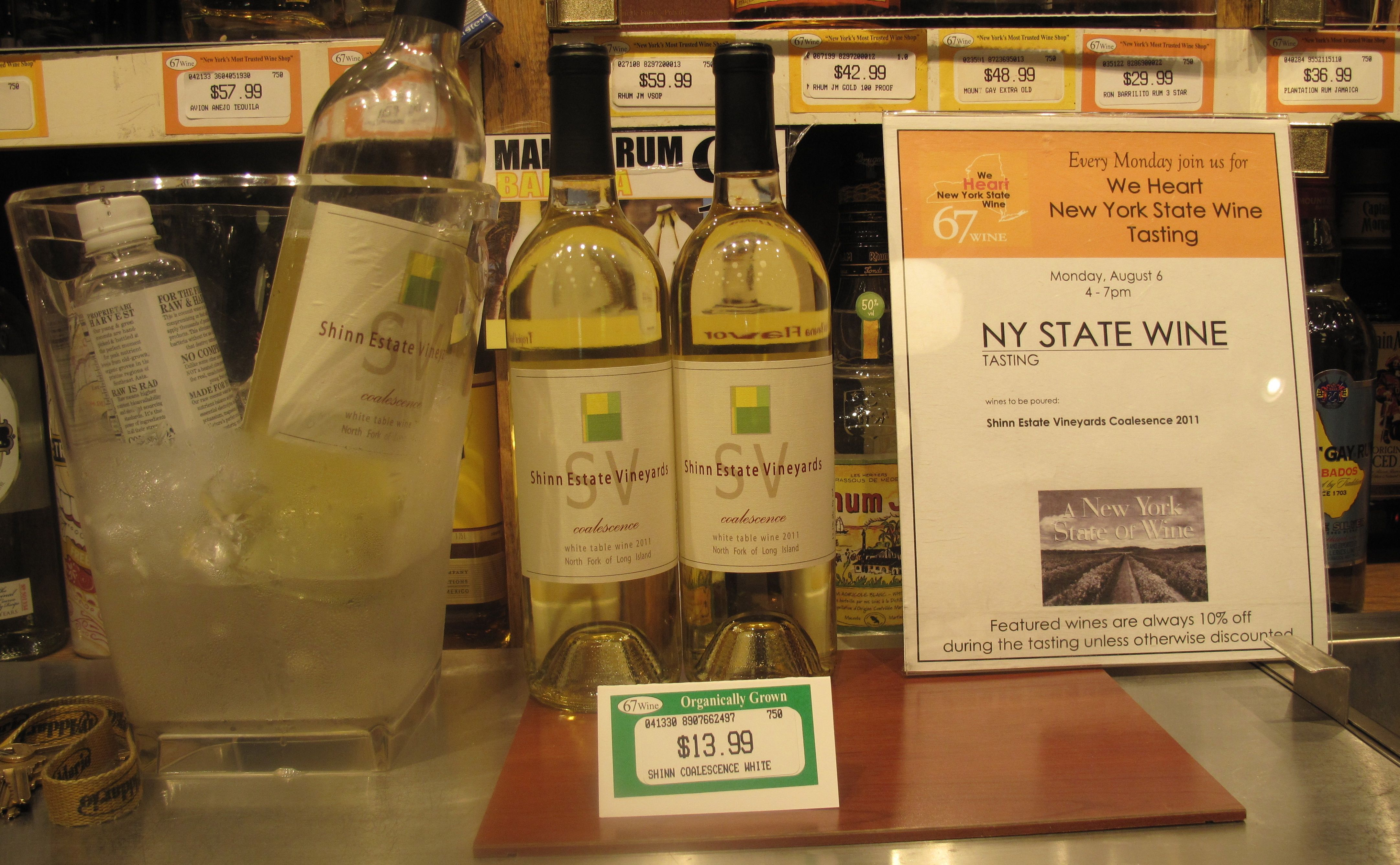 NY State Tasting @ 67 Wines & Spirits. www.thelocalsip.com