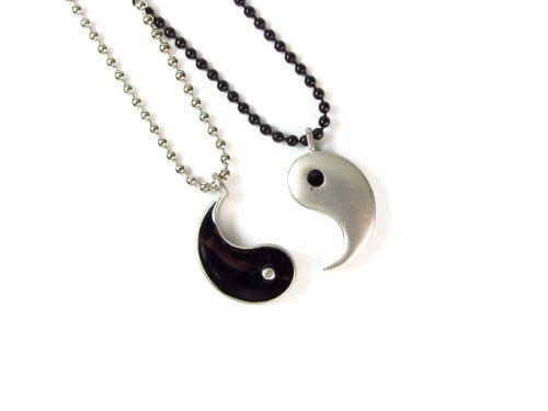 Friendship pewter yin yang pendants on ball chain necklaces http friendship pewter yin yang pendants on ball chain necklaces httpamazon aloadofball Choice Image