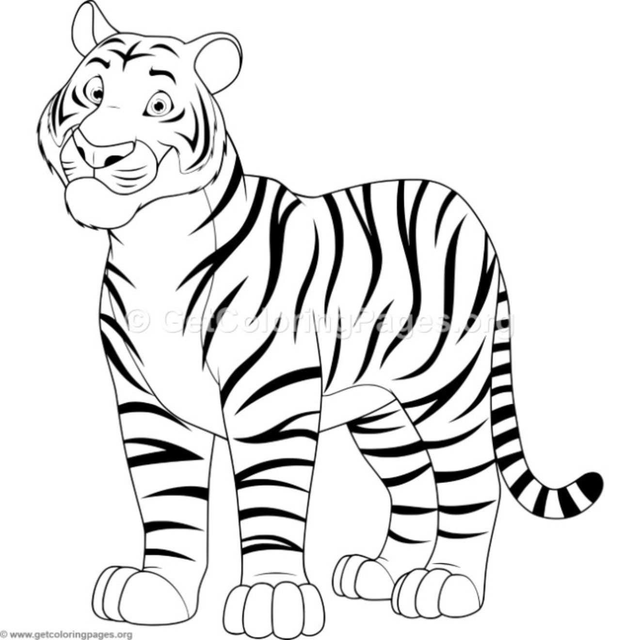 Tiger Coloring Pages Getcoloringpages Org In 2021 Tiger Drawing Easy Drawings Tiger Drawing For Kids