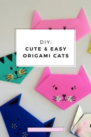 DIY: Easy and cute origami cats - Fat Mum Slim