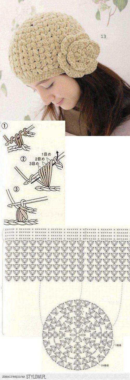 como-hacer-un-gorro-en-crochet-para-mujer | Patrones de ganchillo ...