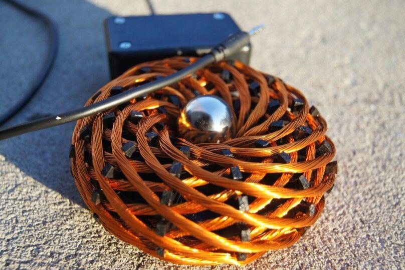 Mobile vortex pulser w 1 neodymium ball solar