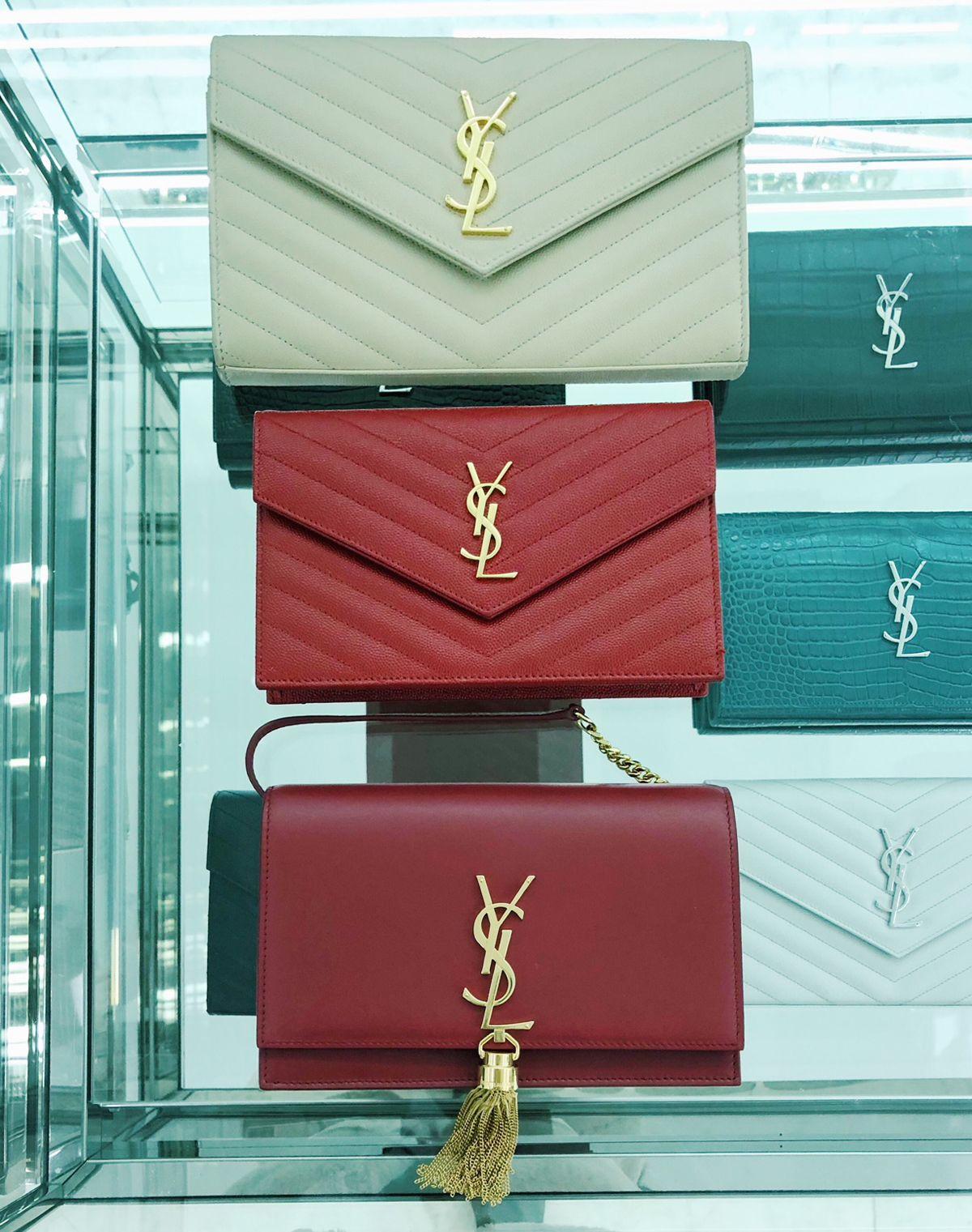 5febea150c Review + Sizes  Saint Laurent Wallet on Chain + Chanel Boy Bag ...