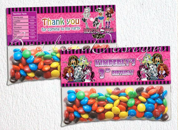 Monster High Bag Toppers Monster High Party by BogdanDesign