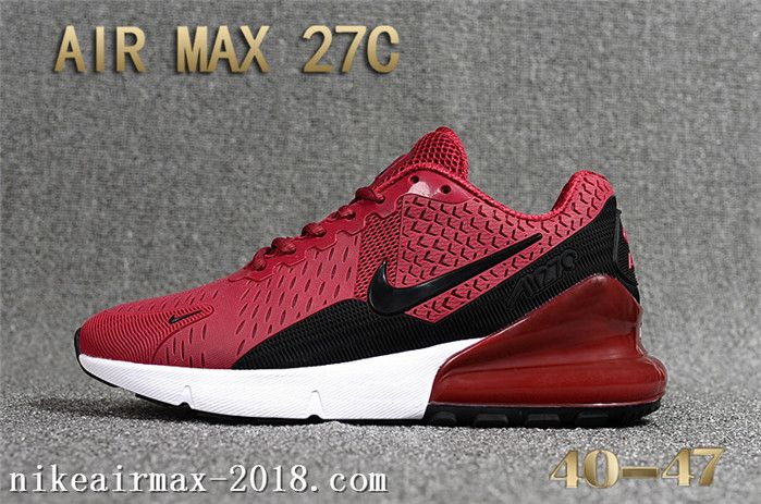 online store 157b3 dd248 2018 Cheap Nike Air Max 270 KPU Nice Mens Sneakers Wine Red Black White