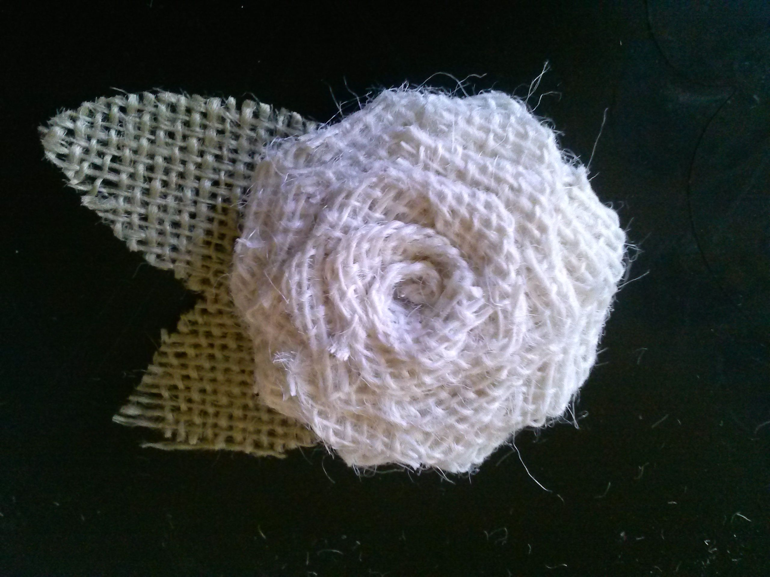 burlap rose clip. $6 sold on Etsy.com or facebook By Snazzie&Classie Hair Accessories an more.
