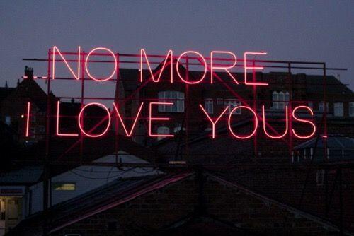 No more love #love