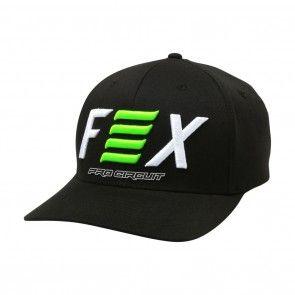 e51ac7f5cc3 Fox Racing Pro Circuit Mens Caps Motocross Off Road Dirt Bike Flexfit Hats