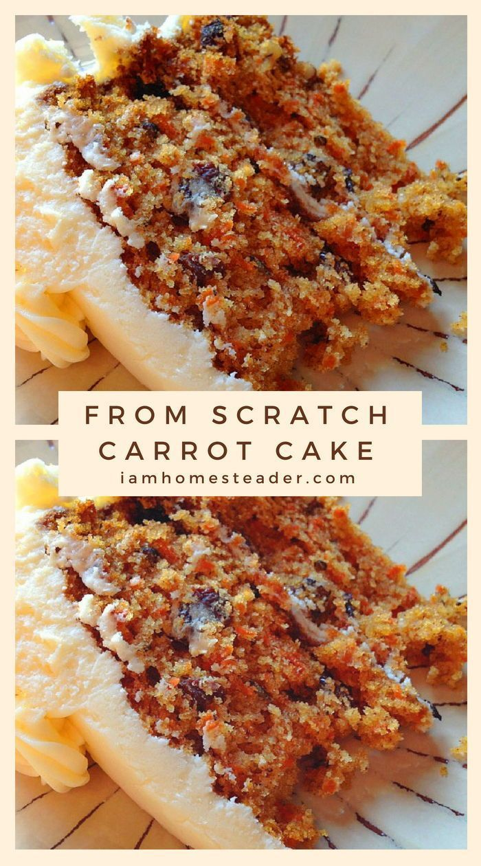 From Scratch Carrot Cake