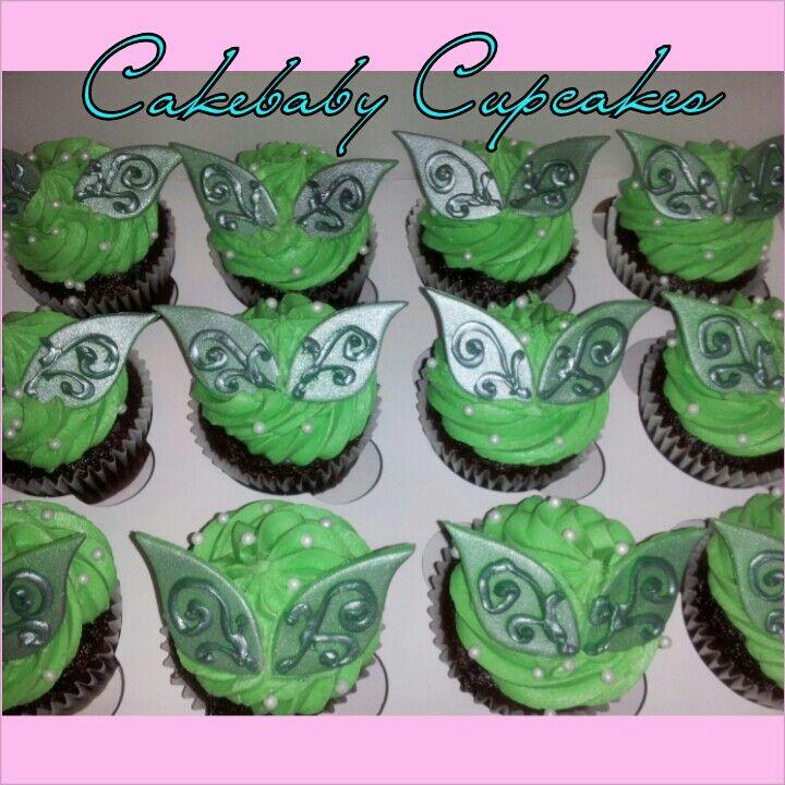 Tinkerbell Inspired Chocolate Chunk Cupcakes. #cakebabycupcakes #cupcakes #custom #Atlanta #Delivery