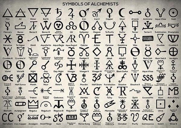 Alchemy Alchemist Symbols Philosophy Philosophical Stone Power