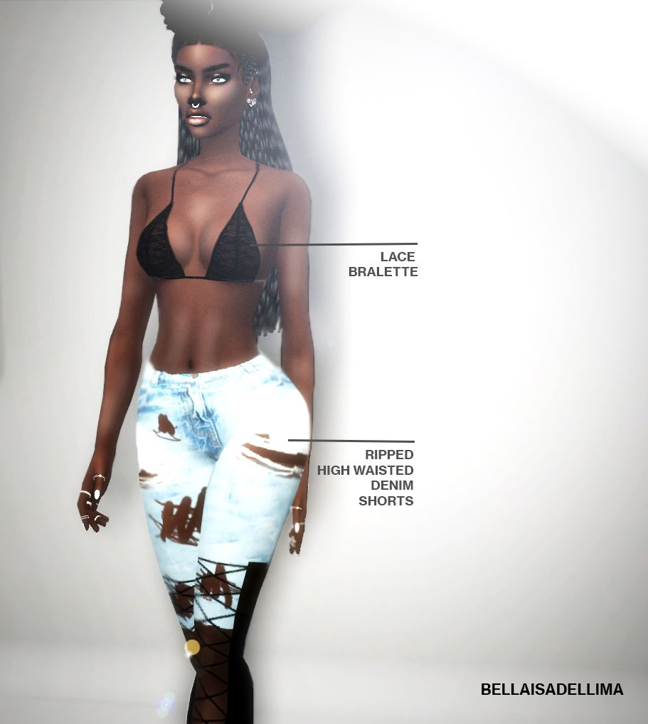 """AUTUMN CLOTHING COLLECTION 2016 """"including: """" • Ripped Bodysuit (found in Gloves) • Cut-out-Dress • Lace Up Boots • Lace Bralette (found in Gloves) • Ripped High Waisted Denim Shorts (found in..."""
