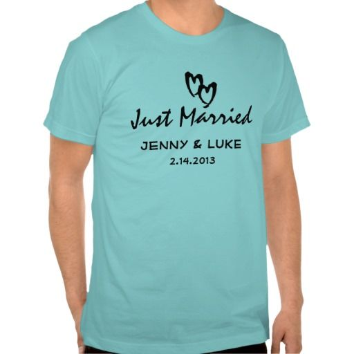 Just Married Bride and Groom T-shirts