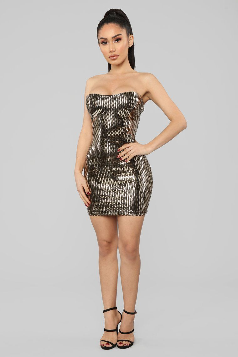 Metallic Dress Gold in 2020 Metallic mini