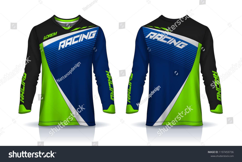 T Shirt Sport Design Template Long Sleeve Soccer Jersey Mockup