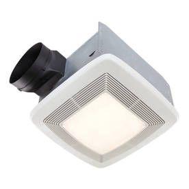 Broan 0 3 Sone 80 Cfm White Bathroom Fan With Light Energy Star Qtxe08 Bathroom Fan Light