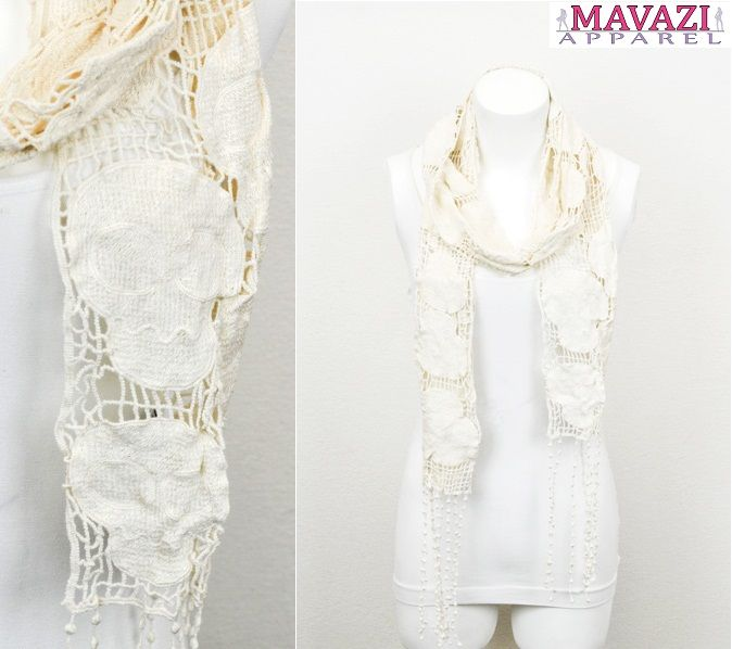 Crochet Skull Scarf $19.99 OR Buy 1 Get 1 50% Off — at Mavazi ...