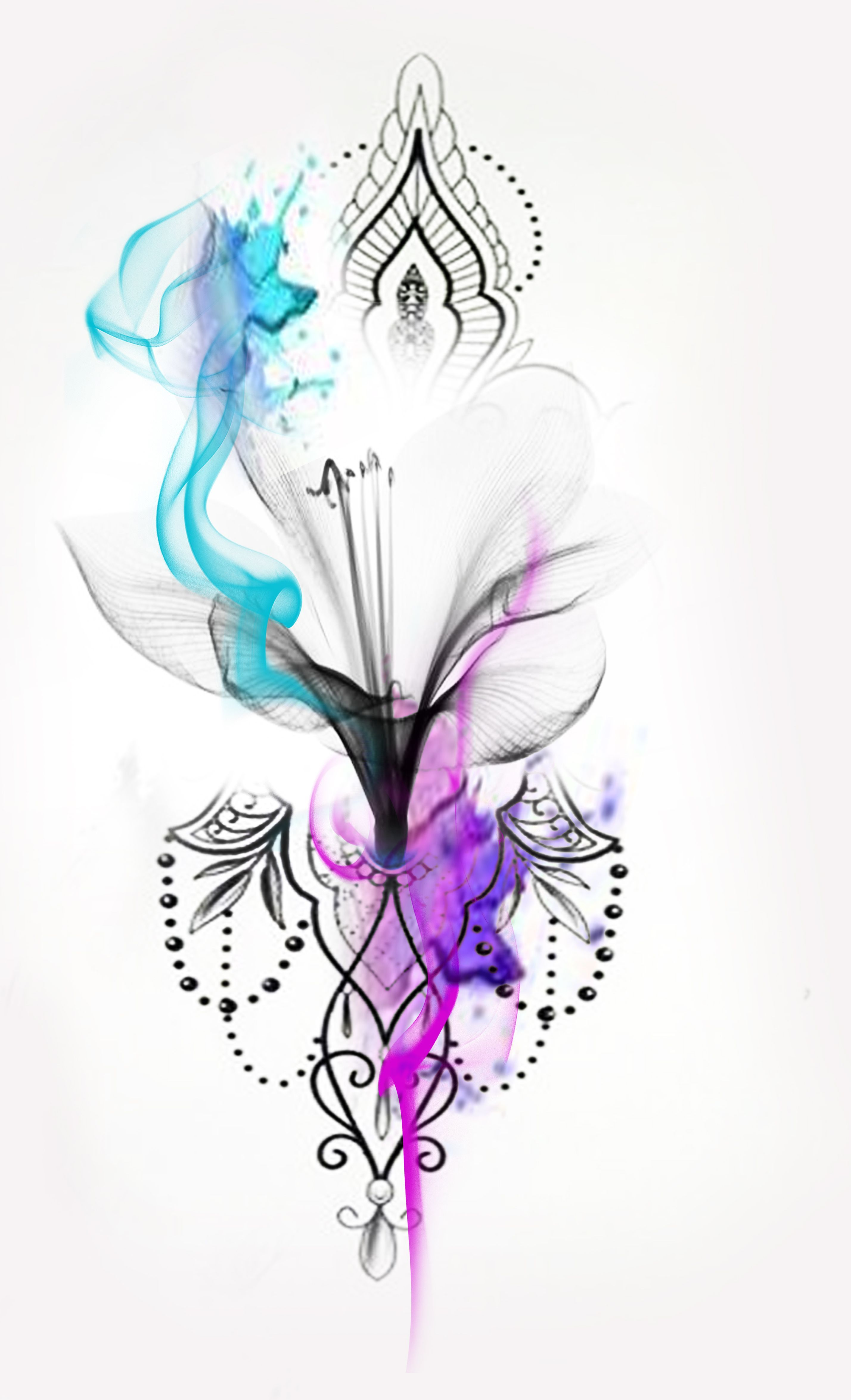 X Ray Watercolor Flower Watercolor Tattoo X Ray Flower X Ray Tattoo Watercolour Tattoo Mandala Flowe In 2020 Ink Tattoo Girl Watercolor Tattoo Flower Flower Tattoos