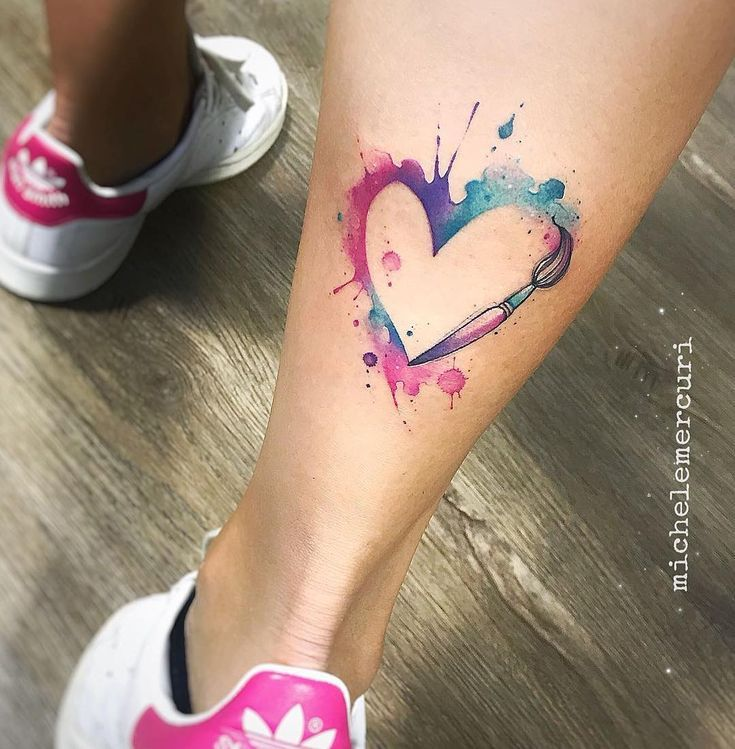 "Photo of Michele Mercuri on Instagram: ""• D i p i n g i m i I L C u o r e • #tattoo…"