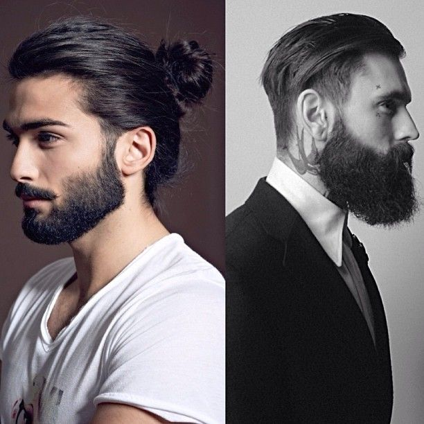 Guys With Beards And Buns | 15 men ponytail hairstyles