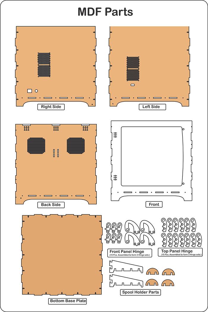reprap prusa 3d printer enclosure kit vortex rc 3d printer rh pinterest com