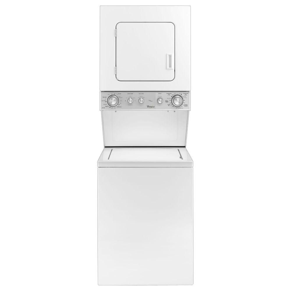 Whirlpool Compact Thin Twin Washer And Electric Dryer In White