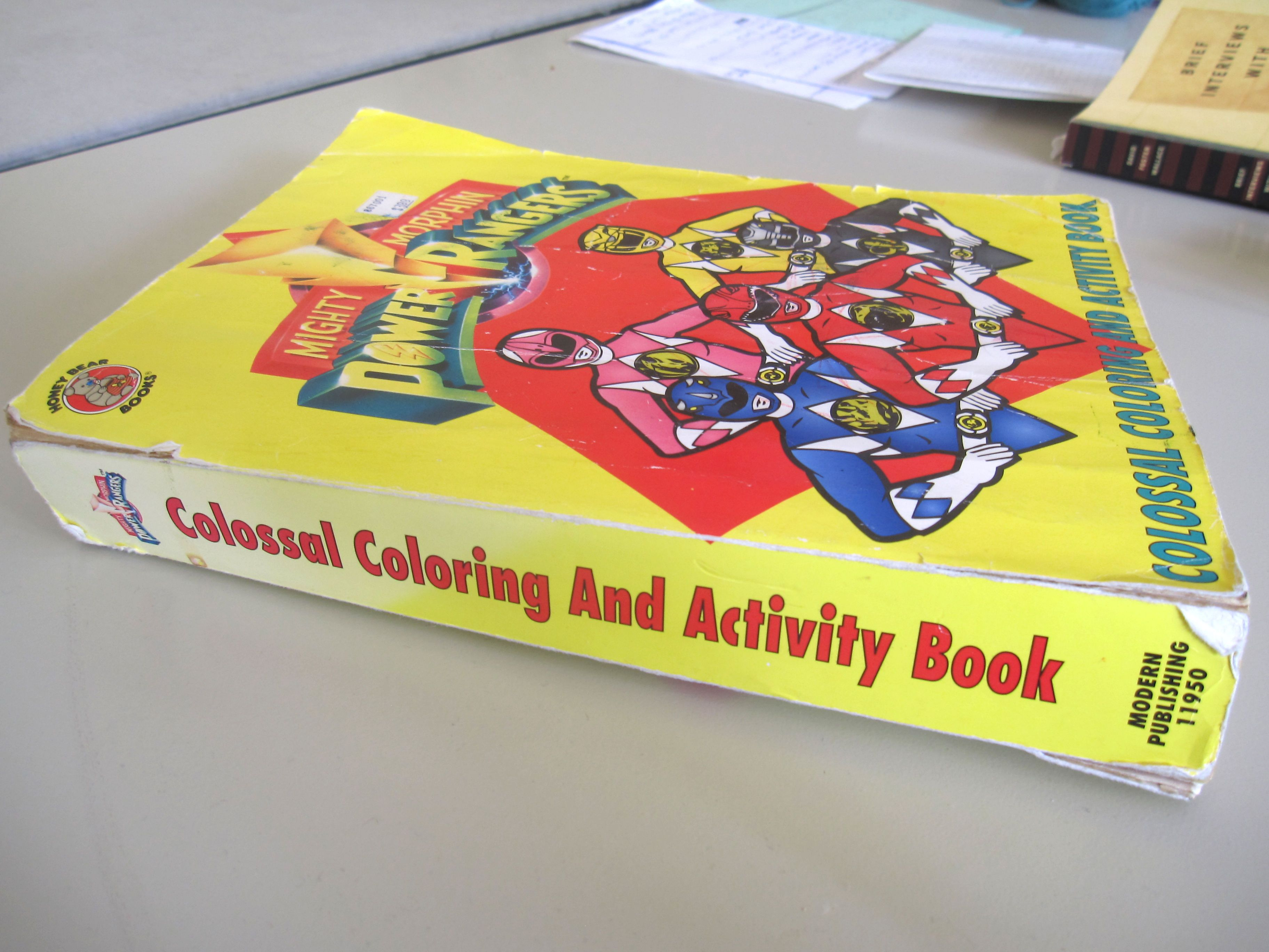 Mighty Morphin Power Rangers Colossal Coloring And Activity Book
