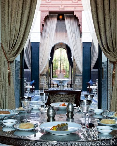 ELLE DECOR Goes To Marrakech La Grande Table Marocaine At The Royal Mansour.