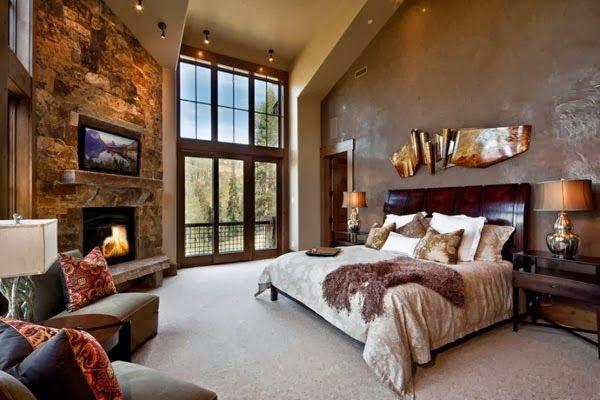 Dormitorios Con Chimeneas Dormitorios Colores Y Estilos