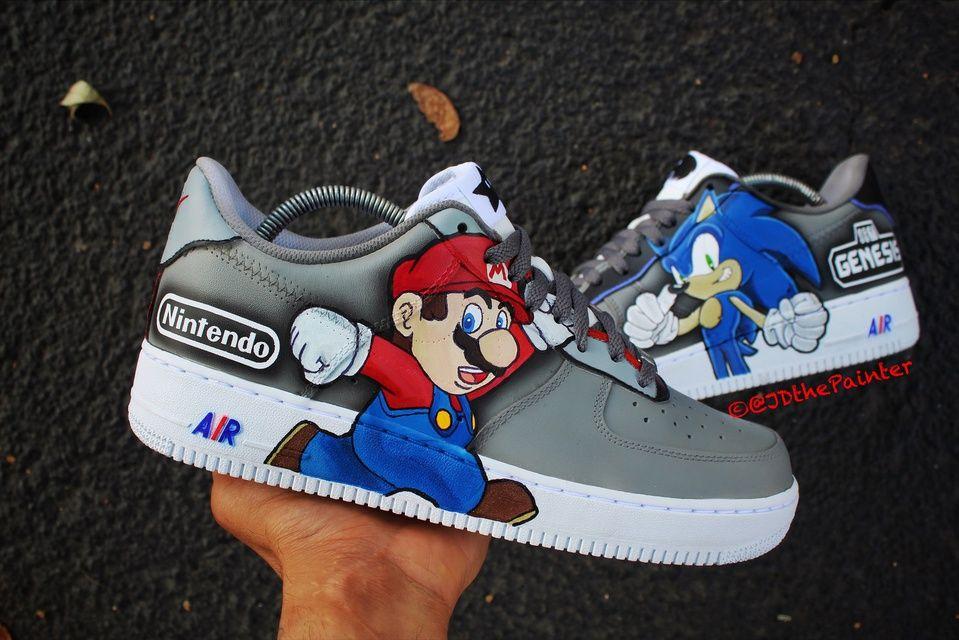 Mario vs Sonic the HedgeHog Nike Air Force 1 in 2020 | Nike