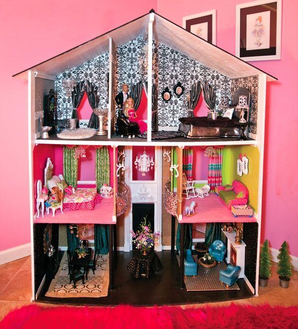 DIY Barbie furniture and DIY Barbie house ideas dollhouse decorating ideas