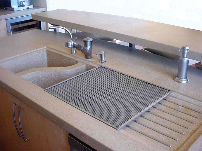 Concrete Kitchen Sinks