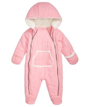 d2d31d67a First Impressions Baby Girls Hooded Snowsuit, Created for Macy's - Pink 0-3  months