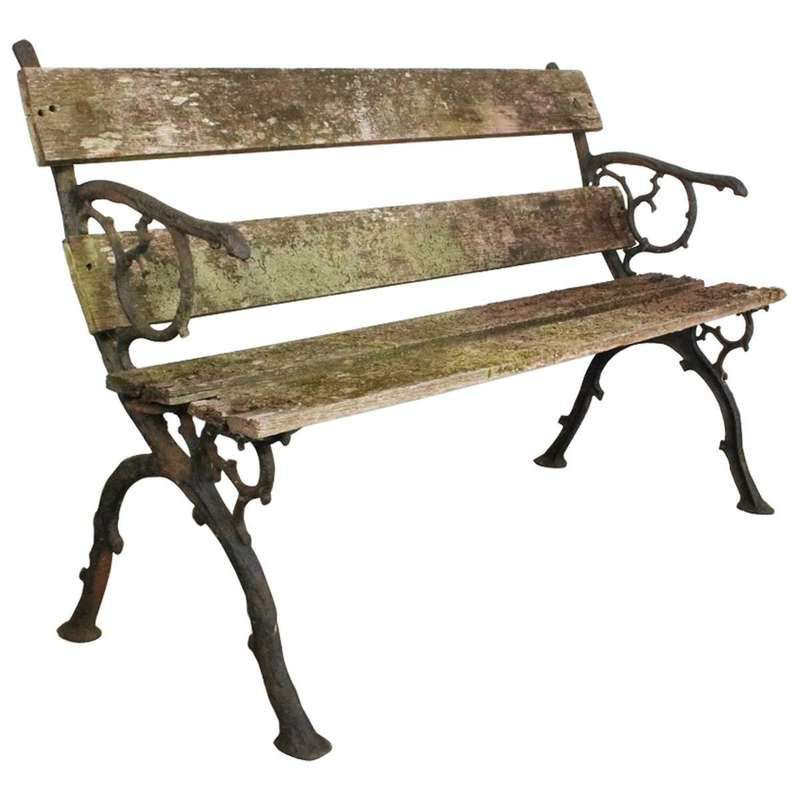 19th Century Victorian Cast Iron Garden Bench For Sale With