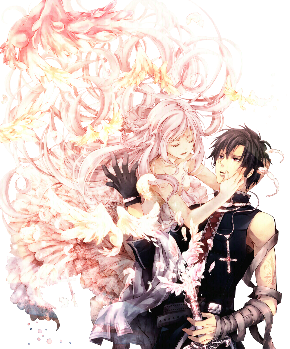 Render personnages renders couple fille garcon cheveux - Personnage manga fille ...