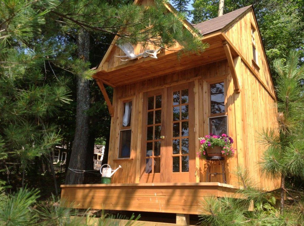 Summerwood prefab precut kits garden sheds cabins for Garden pool sheds