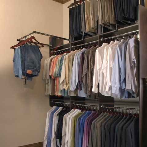10 Ft Ceiling Storage Closets Design Ideas Pictures Remodel And Decor Small Master Closet Closet Rods Closet Designs