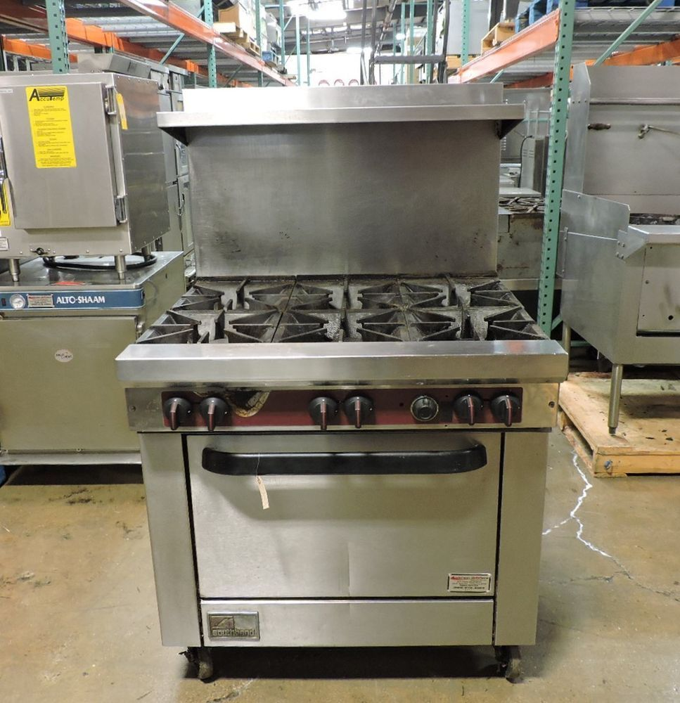 Southbend X436d Commercial 6 Burner Range W Standard Oven Southbend Used Restaurant Equipment Restaurant Equipment Oven